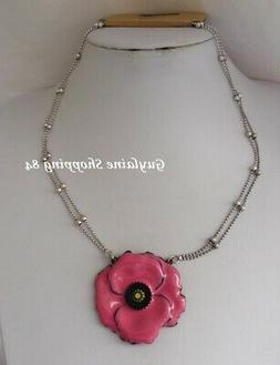 BIJOUX LOL LOLILOTA COLLIER EMAIL relief Gros coquelicot ros